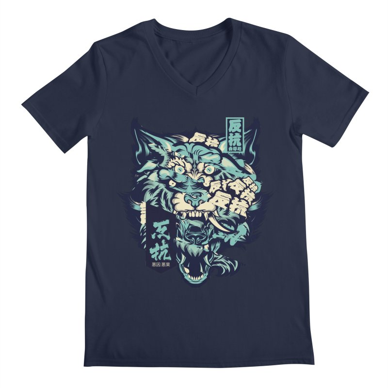 Defiance Anger Men's Regular V-Neck by HYDRO74
