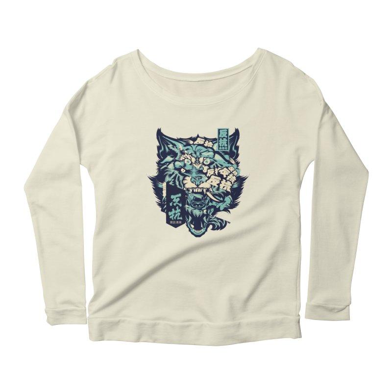 Defiance Anger Women's Scoop Neck Longsleeve T-Shirt by HYDRO74