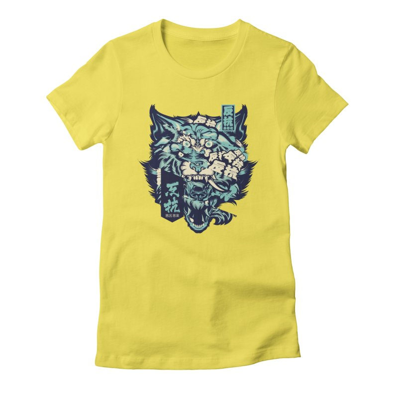 Defiance Anger Women's Fitted T-Shirt by HYDRO74