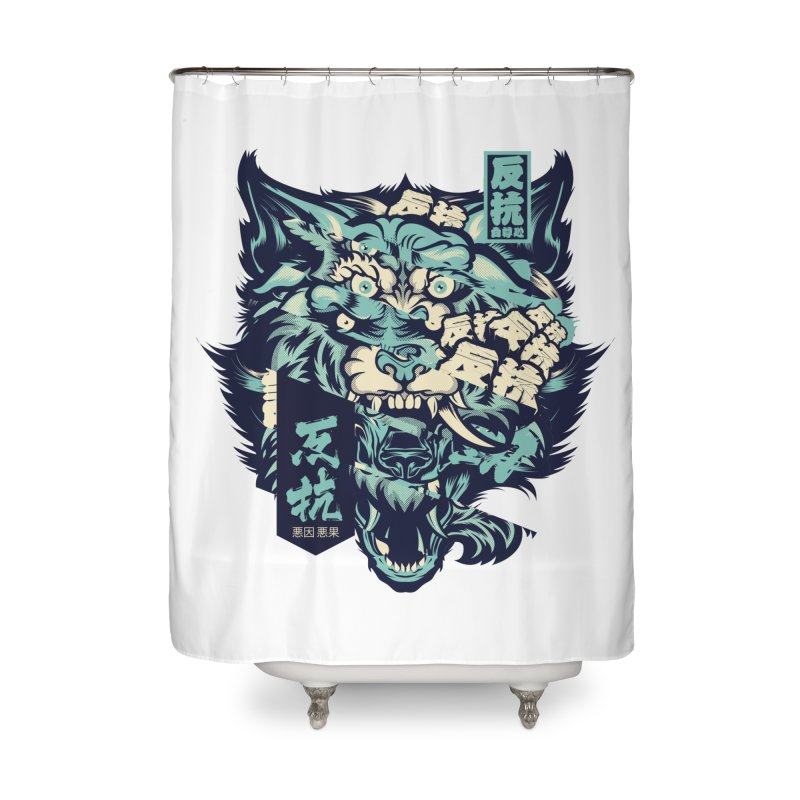 Defiance Anger Home Shower Curtain by HYDRO74