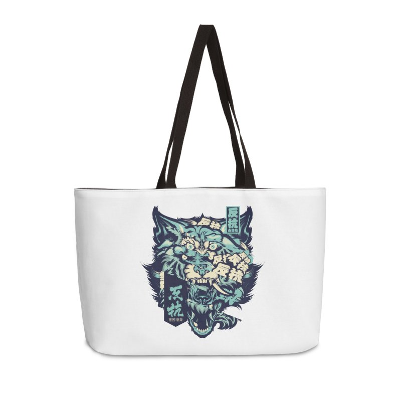Defiance Anger Accessories Weekender Bag Bag by HYDRO74