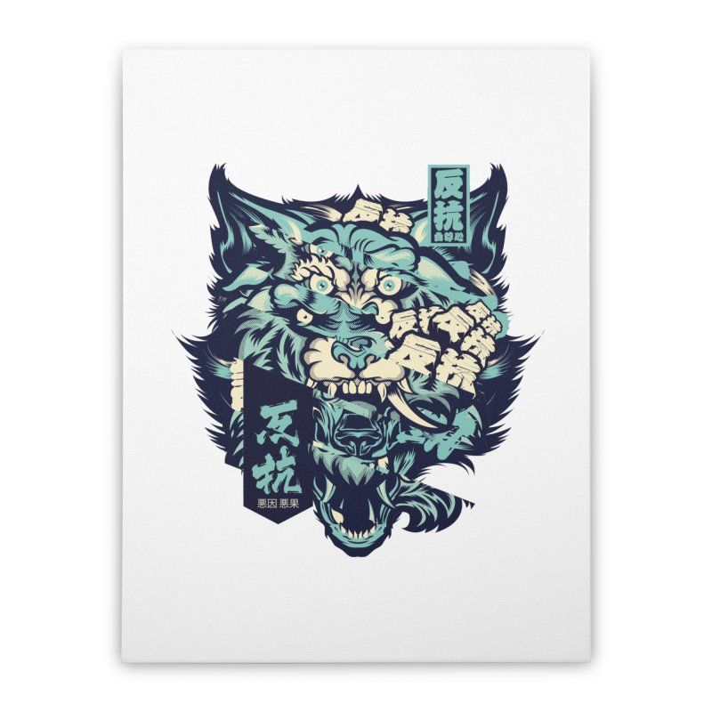 Defiance Anger Home Stretched Canvas by HYDRO74