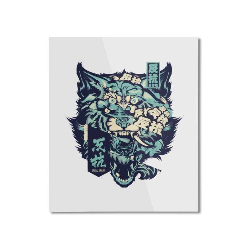 Defiance Anger Home Mounted Aluminum Print by HYDRO74