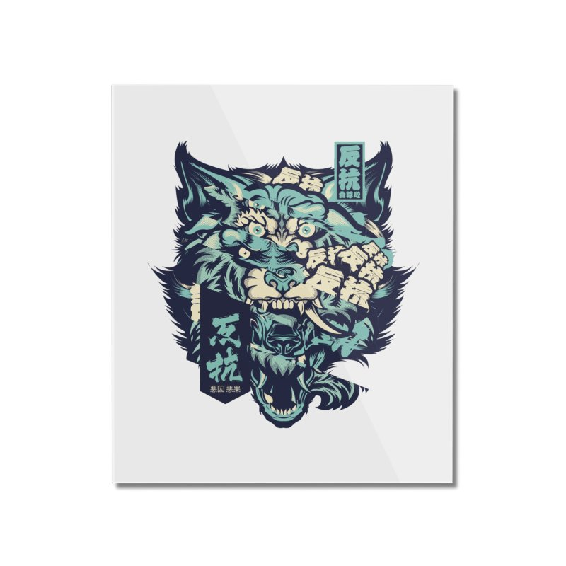 Defiance Anger Home Mounted Acrylic Print by HYDRO74
