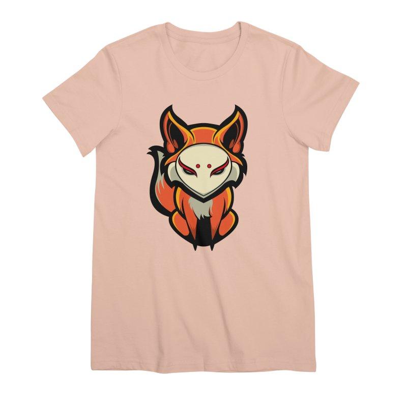 Kitsune Women's Premium T-Shirt by HYDRO74