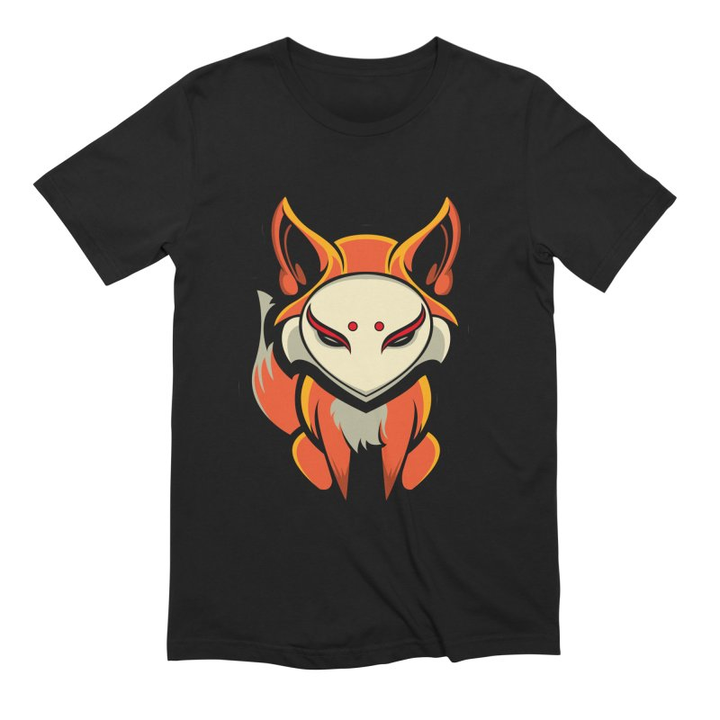 Kitsune in Men's Extra Soft T-Shirt Black by HYDRO74