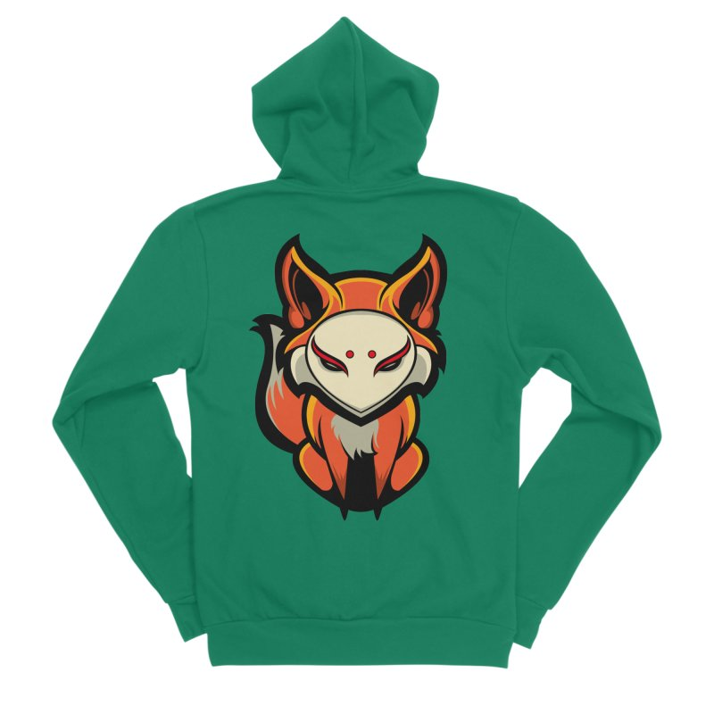 Kitsune Women's Sponge Fleece Zip-Up Hoody by HYDRO74