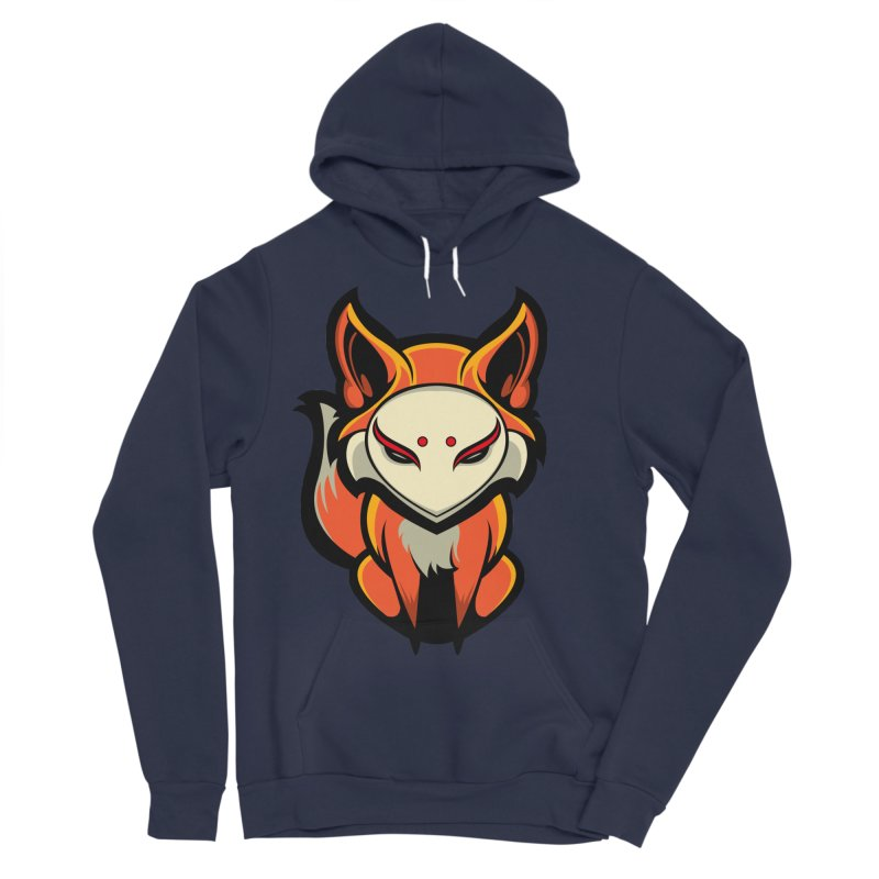 Kitsune Men's Sponge Fleece Pullover Hoody by HYDRO74