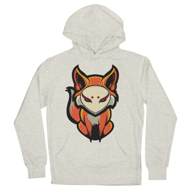 Kitsune Women's French Terry Pullover Hoody by HYDRO74