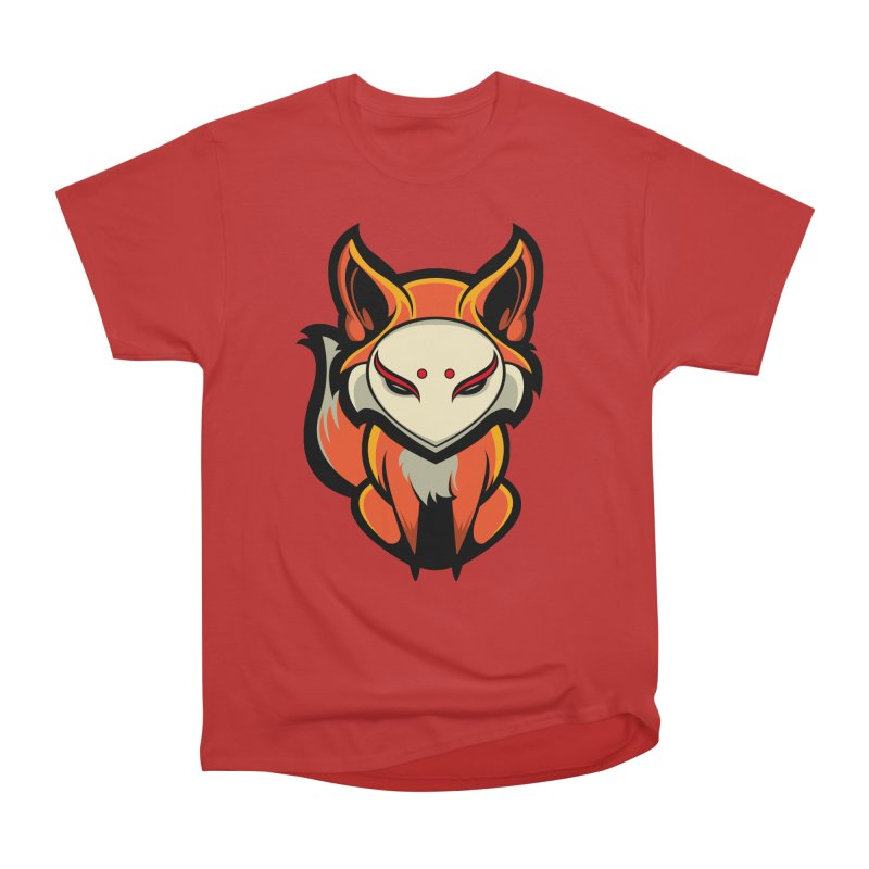 Kitsune Women's Heavyweight Unisex T-Shirt by HYDRO74