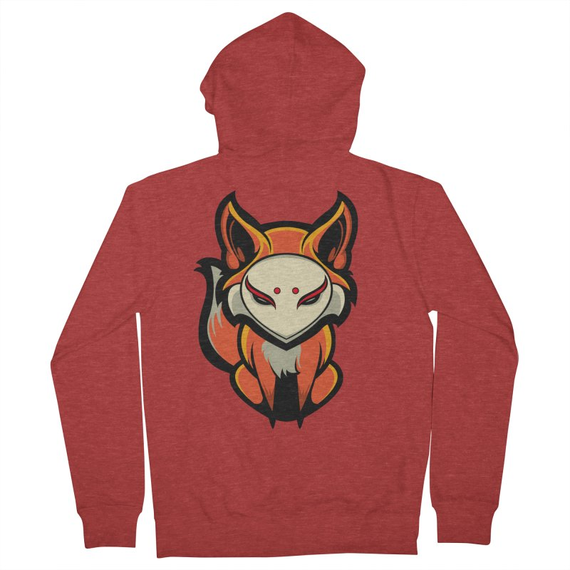 Kitsune Men's French Terry Zip-Up Hoody by HYDRO74