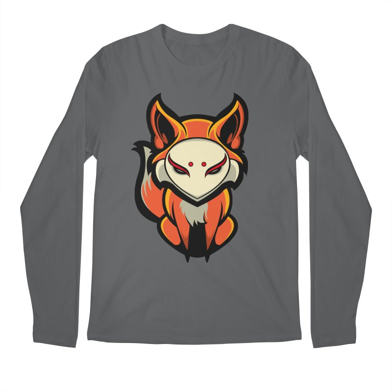 Kitsune Men's Longsleeve T-Shirt by HYDRO74