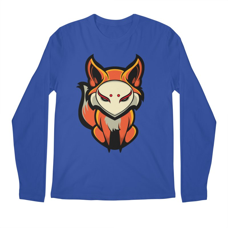 Kitsune Men's Longsleeve T-Shirt by HYDRO74