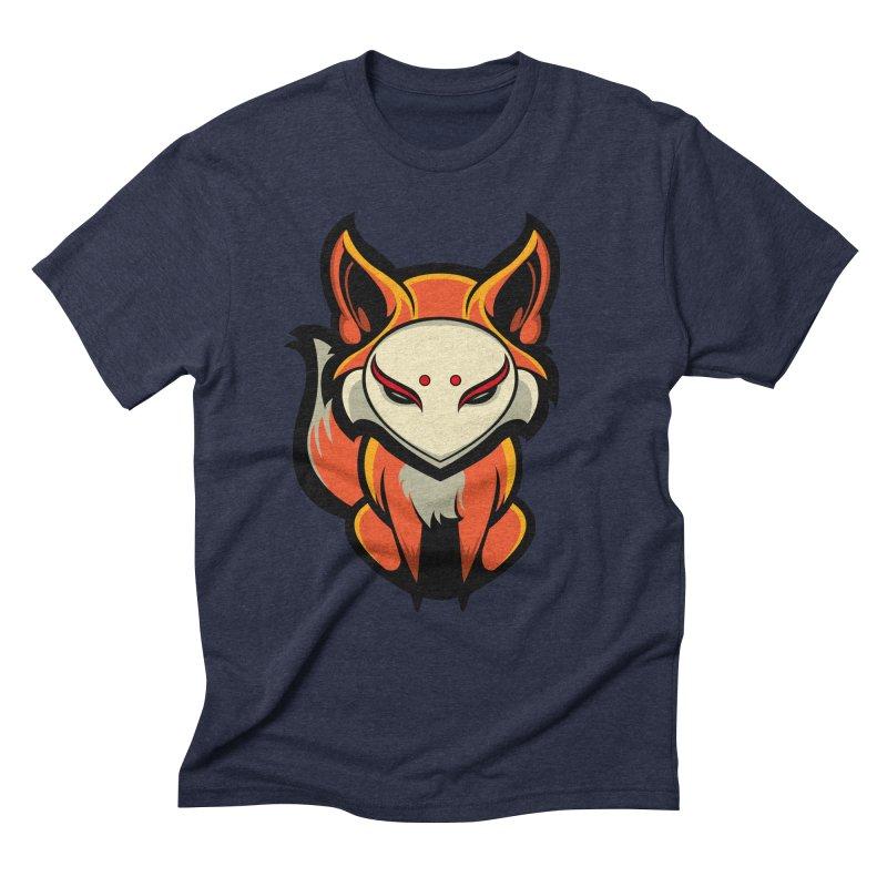 Kitsune Men's Triblend T-Shirt by HYDRO74