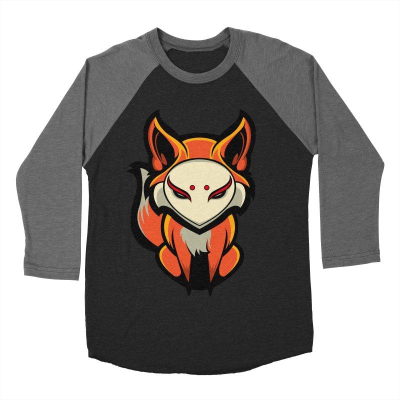 Kitsune Women's Baseball Triblend Longsleeve T-Shirt by HYDRO74