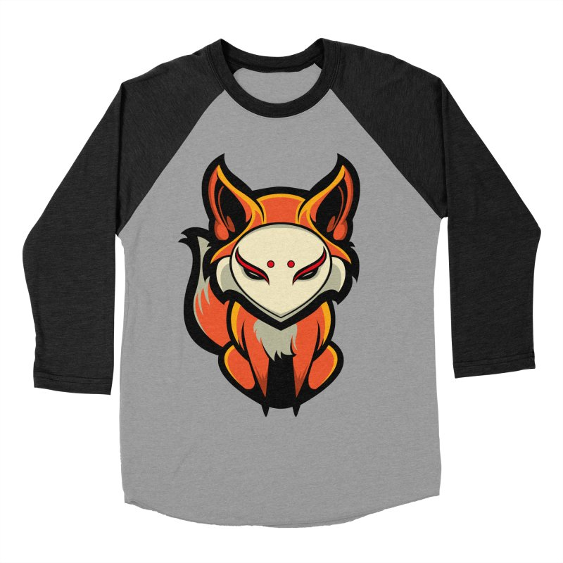 Kitsune Men's Baseball Triblend Longsleeve T-Shirt by HYDRO74