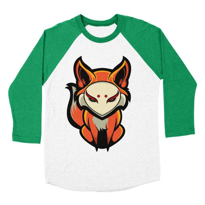 Kitsune Men's Baseball Triblend Longsleeve T-Shirt by HYDRO74