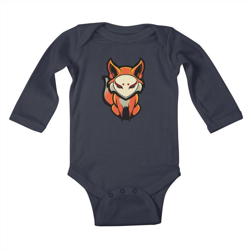 Kitsune Kids Baby Longsleeve Bodysuit by HYDRO74