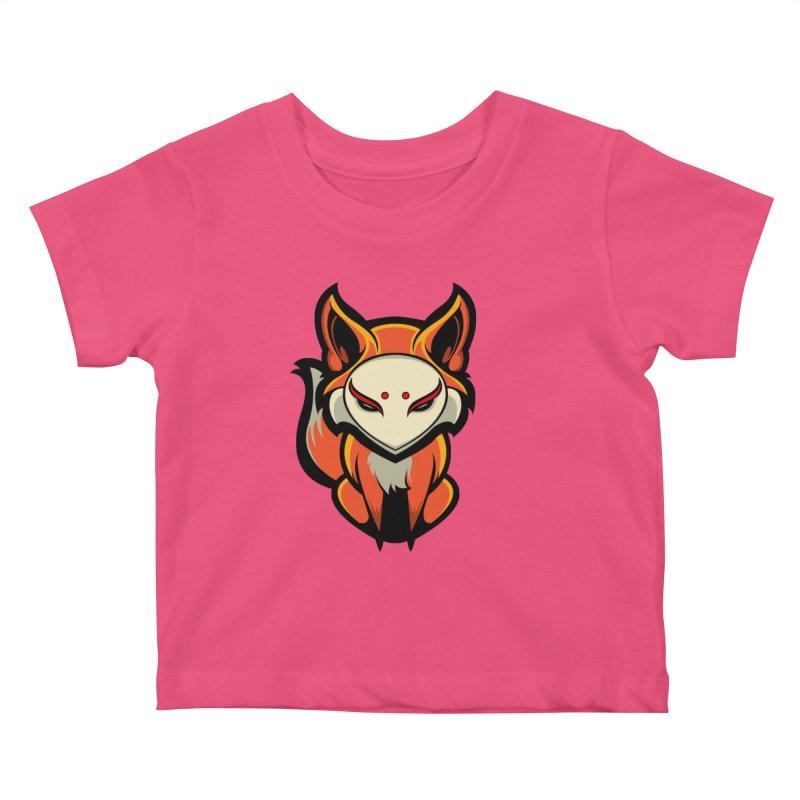 Kitsune Kids Baby T-Shirt by HYDRO74
