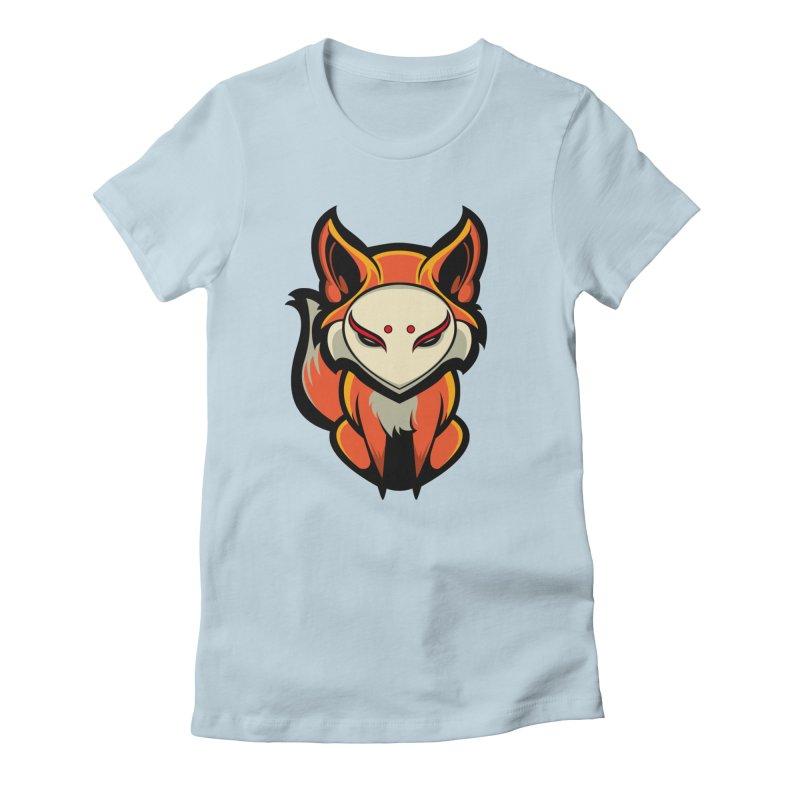 Kitsune Women's T-Shirt by HYDRO74