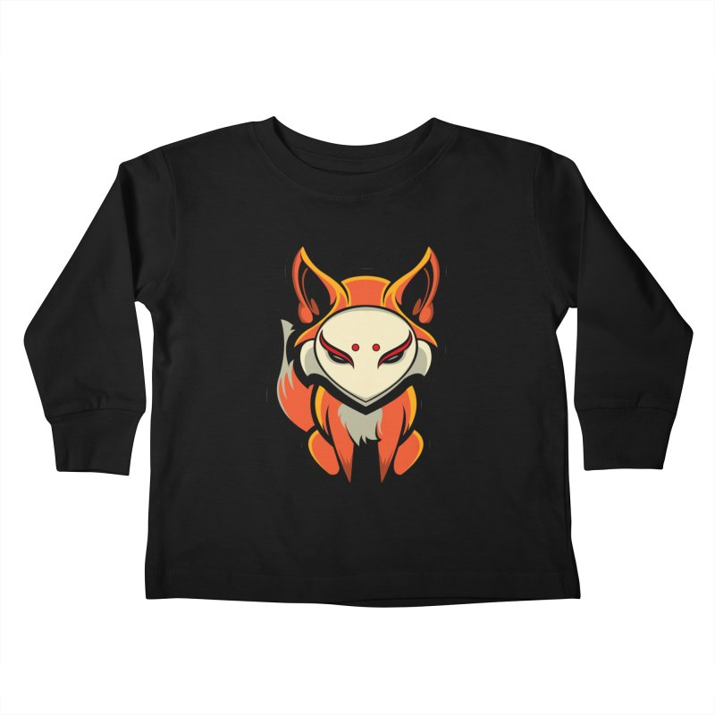 Kitsune Kids Toddler Longsleeve T-Shirt by HYDRO74