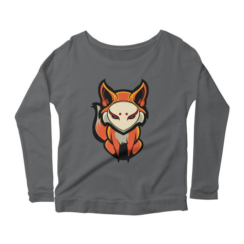Kitsune Women's Scoop Neck Longsleeve T-Shirt by HYDRO74