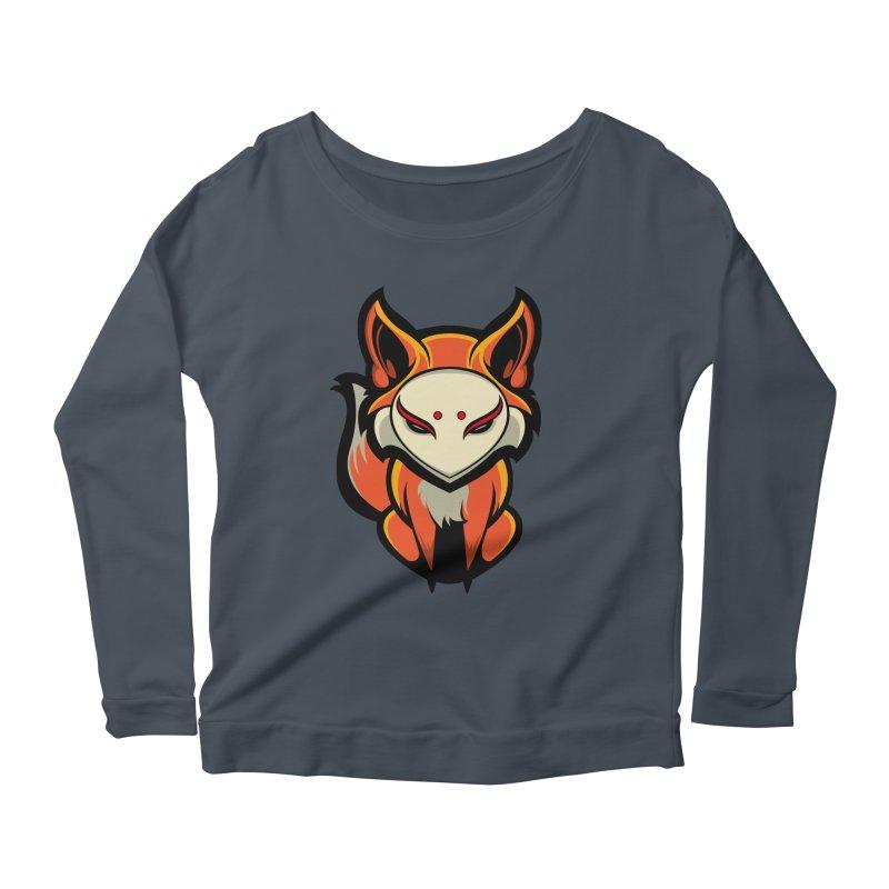 Kitsune Women's Scoop Neck Longsleeve T-Shirt by HYDRO74