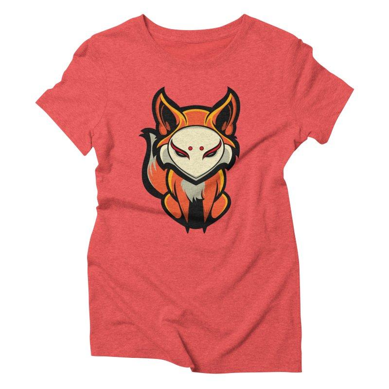 Kitsune Women's Triblend T-Shirt by HYDRO74