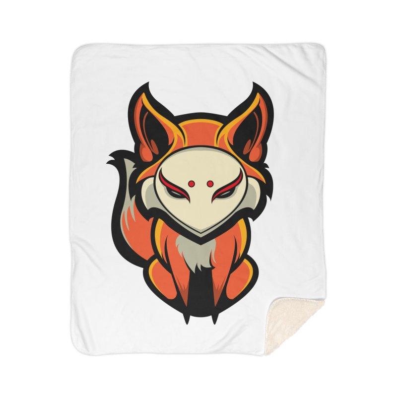 Kitsune Home Sherpa Blanket Blanket by HYDRO74