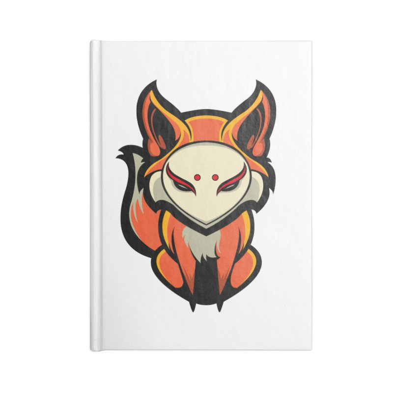 Kitsune Accessories Lined Journal Notebook by HYDRO74