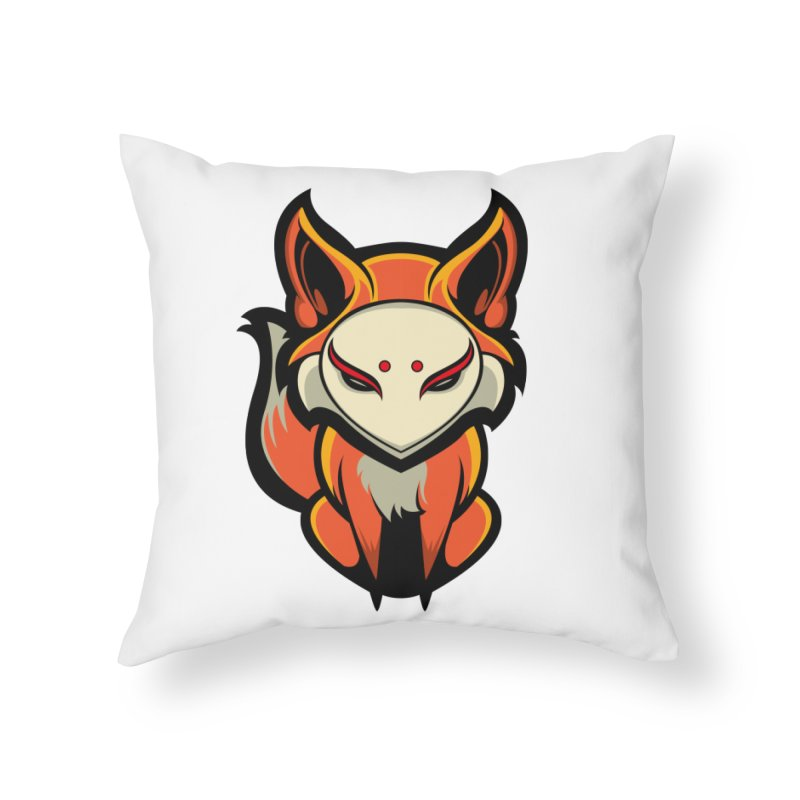 Kitsune Home Throw Pillow by HYDRO74