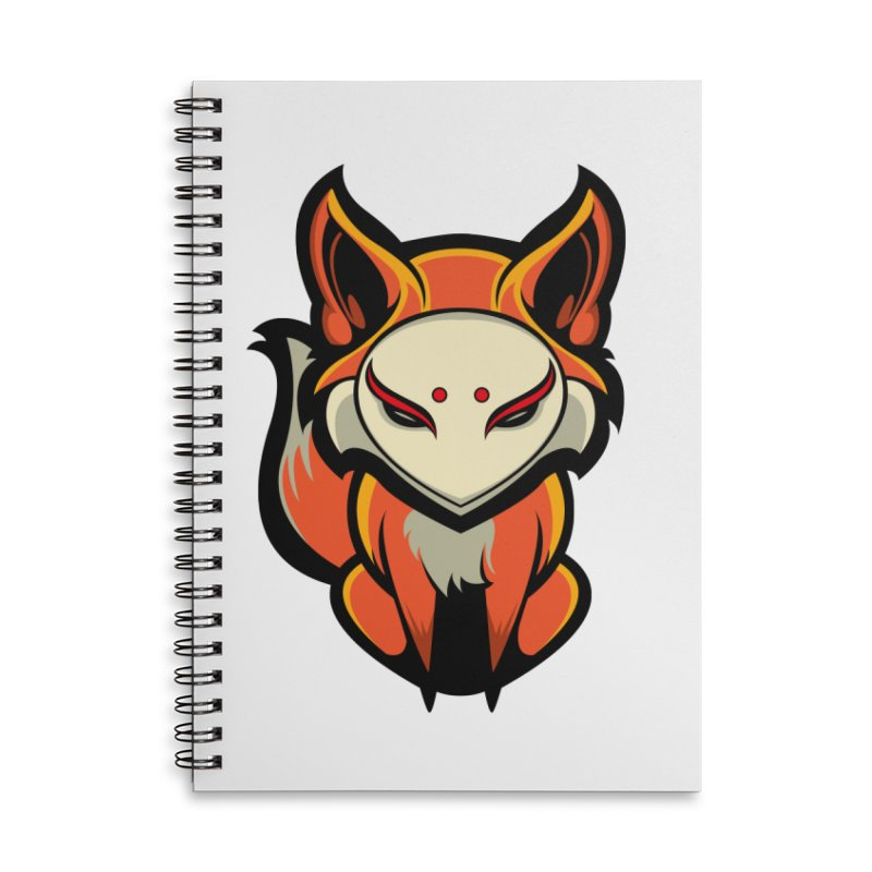 Kitsune Accessories Lined Spiral Notebook by HYDRO74