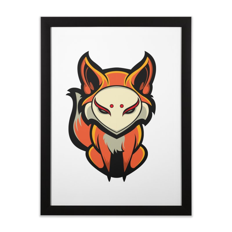 Kitsune Home Framed Fine Art Print by HYDRO74