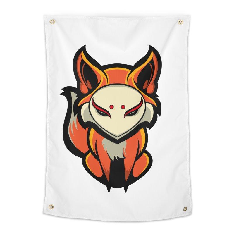 Kitsune Home Tapestry by HYDRO74
