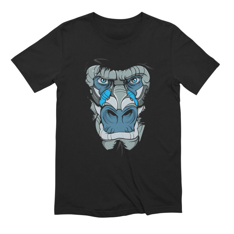 Hydro74 Old School Ape in Men's Extra Soft T-Shirt Black by HYDRO74