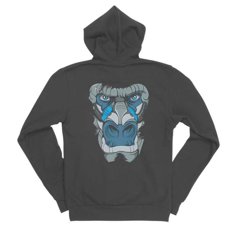 Hydro74 Old School Ape Women's Sponge Fleece Zip-Up Hoody by HYDRO74