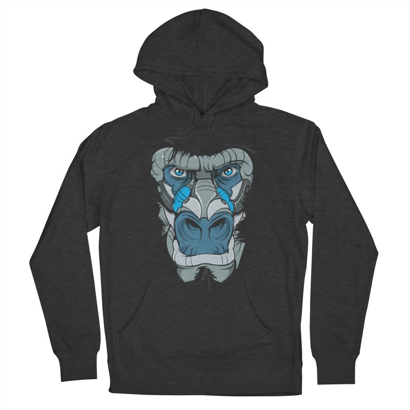 Hydro74 Old School Ape Women's French Terry Pullover Hoody by HYDRO74