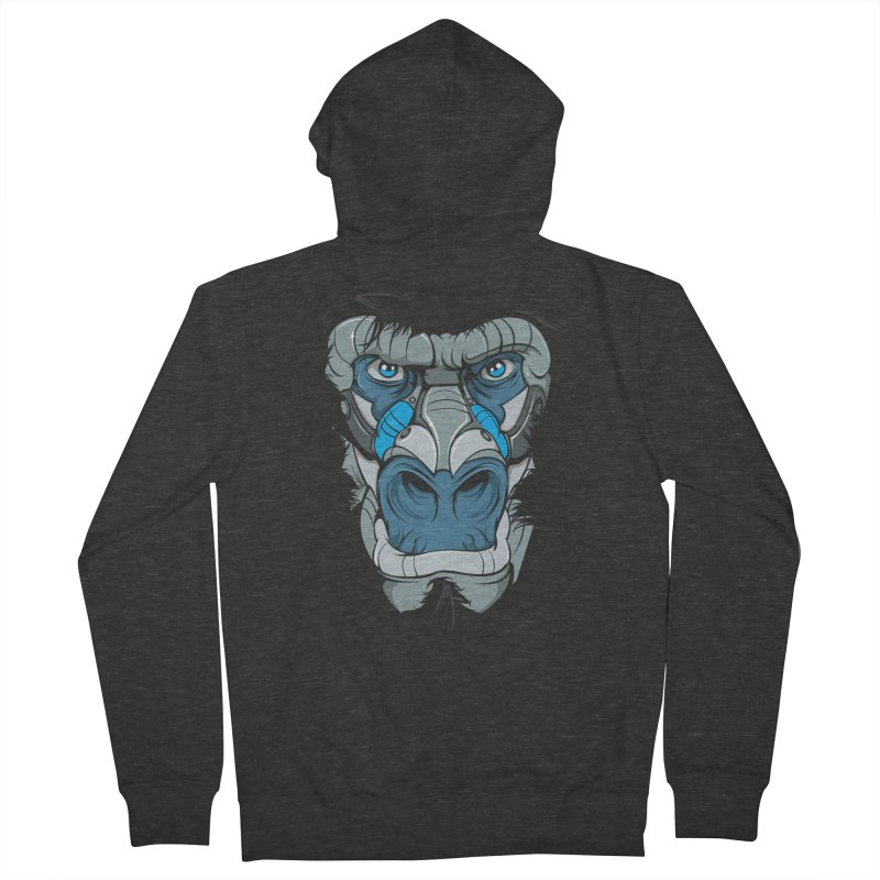 Hydro74 Old School Ape Women's French Terry Zip-Up Hoody by HYDRO74