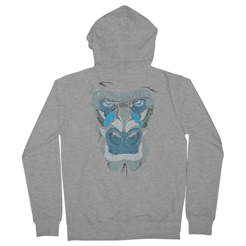 Hydro74 Old School Ape Men's French Terry Zip-Up Hoody by HYDRO74