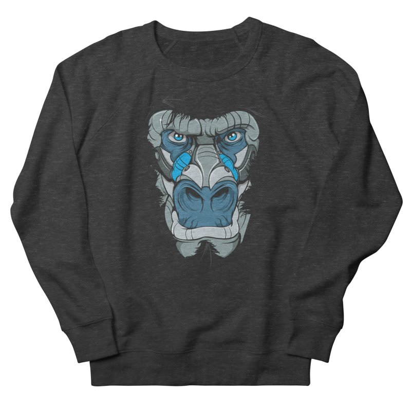 Hydro74 Old School Ape Women's French Terry Sweatshirt by HYDRO74