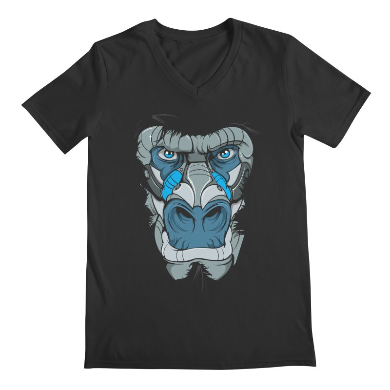 Hydro74 Old School Ape Men's Regular V-Neck by HYDRO74
