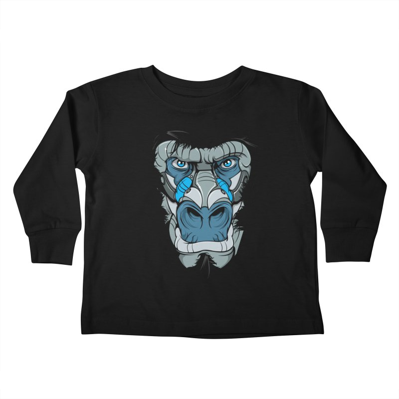 Hydro74 Old School Ape Kids Toddler Longsleeve T-Shirt by HYDRO74