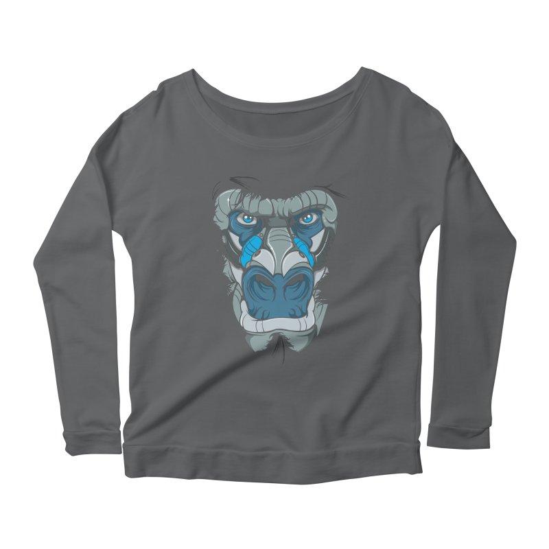 Hydro74 Old School Ape Women's Scoop Neck Longsleeve T-Shirt by HYDRO74