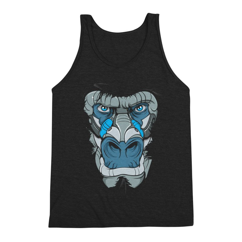 Hydro74 Old School Ape Men's Triblend Tank by HYDRO74