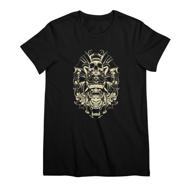 Hydro74 Old School Demon Women's Premium T-Shirt by HYDRO74