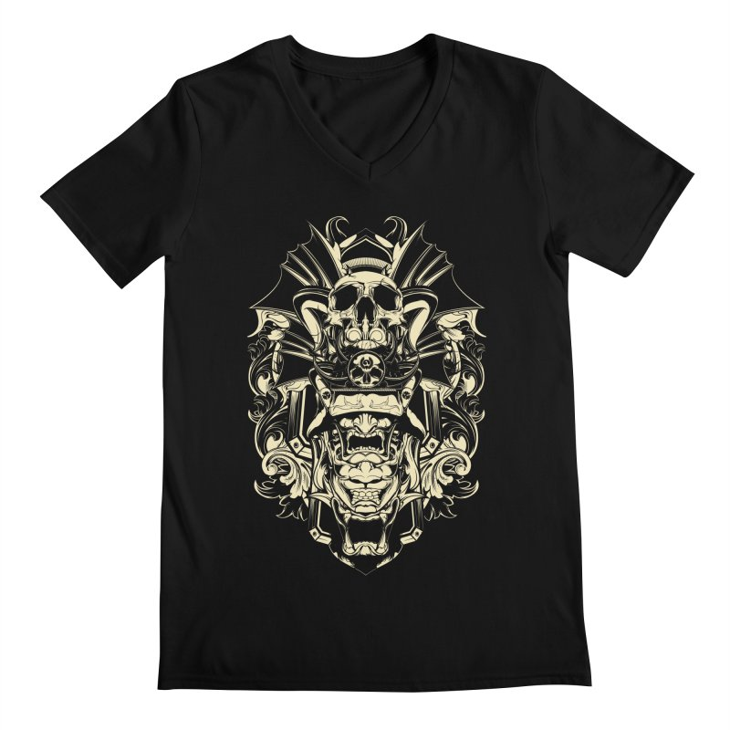 Hydro74 Old School Demon Men's Regular V-Neck by HYDRO74