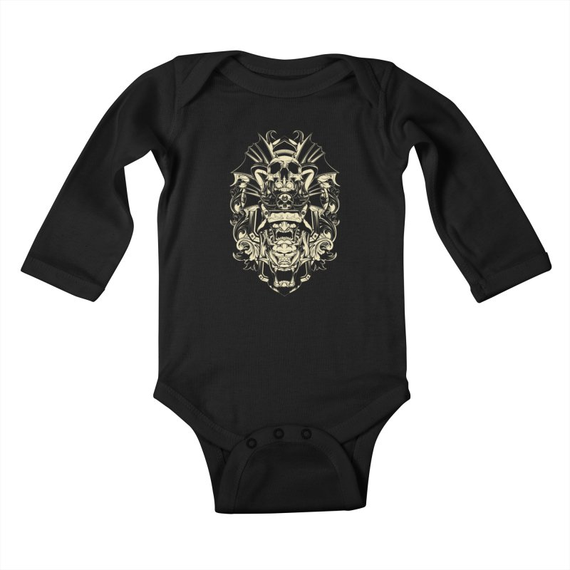 Hydro74 Old School Demon Kids Baby Longsleeve Bodysuit by HYDRO74