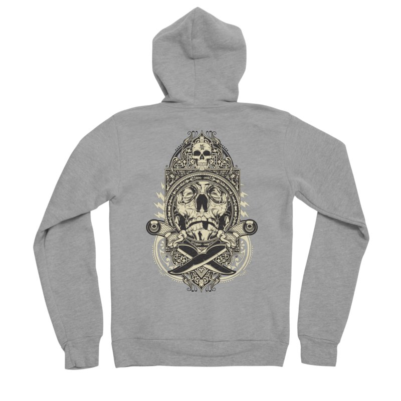Hydro74 Old School Deity Women's Sponge Fleece Zip-Up Hoody by HYDRO74