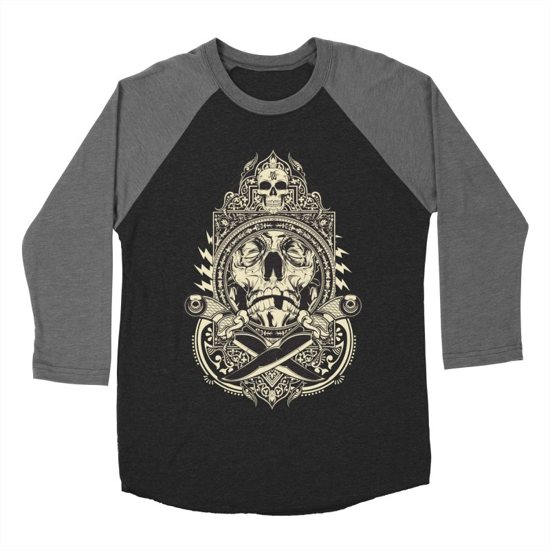 Hydro74 Old School Deity Women's Baseball Triblend Longsleeve T-Shirt by HYDRO74