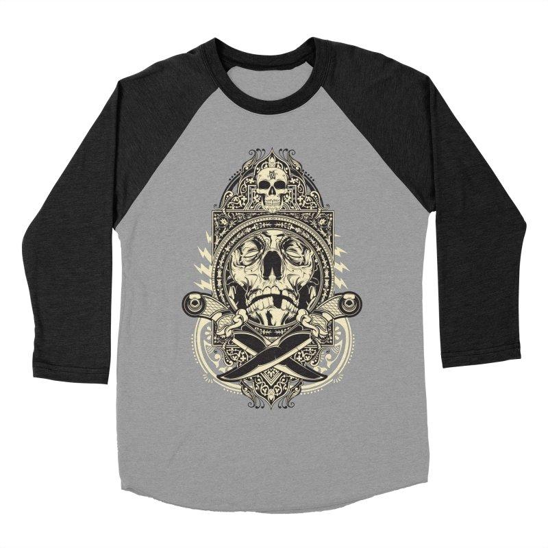Hydro74 Old School Deity Women's Baseball Triblend Longsleeve T-Shirt by HYDRO74